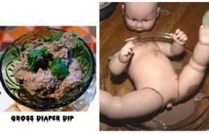 diaper dip for Halloween