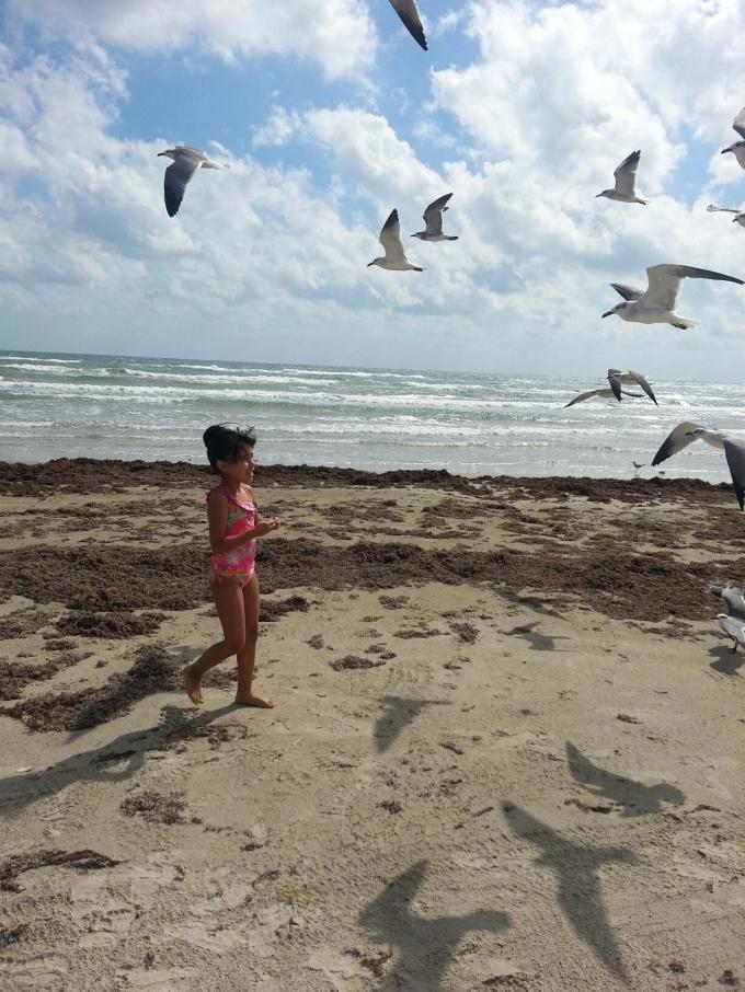 on the beach- Port Aransas, Texas